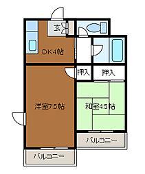 相生コーポフロンティア[4階]の間取り