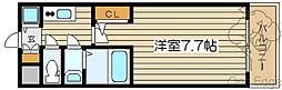 ジュネーゼロイヤルレジデンス梅田東[9階]の間取り