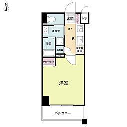ラクラス大阪城[0604号室]の間取り