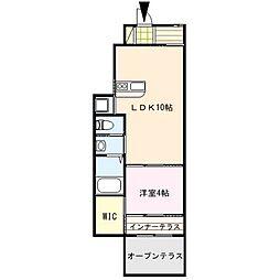 Seedling hill 2GII[1階]の間取り