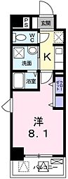 兵庫県神戸市長田区長田町2の賃貸マンションの間取り