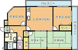メゾンモンブラン則松(分譲賃貸)[3階]の間取り