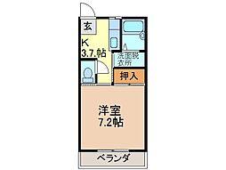 静岡県富士市永田町2丁目の賃貸アパートの間取り