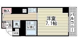 ライオンズマンション神戸元町第3[409号室]の間取り