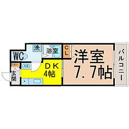 T's Dream名駅(ティーズドリーム名駅)[602号室]の間取り