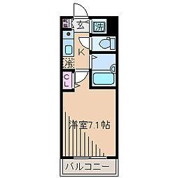 神奈川県横浜市神奈川区松見町2丁目の賃貸マンションの間取り