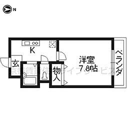 ハピネス神宮道[201号室]の間取り