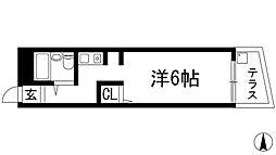 ONハイツ甲東園[1階]の間取り