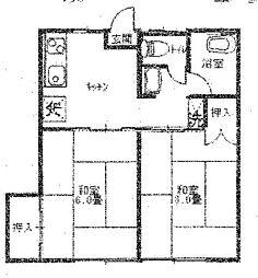 埼玉県久喜市久喜東3丁目の賃貸アパートの間取り