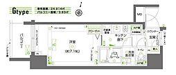 ZOOM新宿南Second 13階1Kの間取り