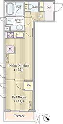 K's court高輪台 ケーズコート高輪台 1階1DKの間取り