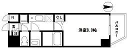 EARTHMANS OSAKA-JO 4階1Kの間取り