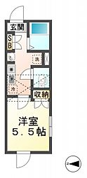 マーベラス西恋ヶ窪[2階]の間取り