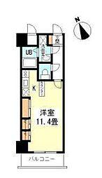 コンフォートレジデンス御堂筋本町[4階]の間取り