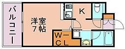 エンクレストGRAN博多駅前[7階]の間取り