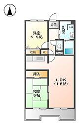 エスポワ−ル尾崎[3階]の間取り