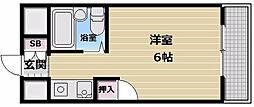 ツインコンフォートハイツ岩崎[601号室]の間取り
