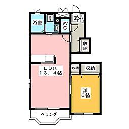 キャノン九反田A[1階]の間取り