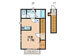 リヴュール[2階]の間取り