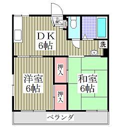 埼玉県上尾市緑丘5丁目の賃貸アパートの間取り