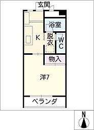 シャトーハティー[1階]の間取り