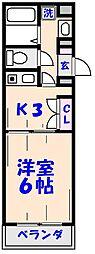 KOS[305号室]の間取り