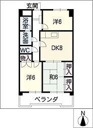 ウノモリックス[6階]の間取り