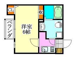クラッシー津田沼II[203号室]の間取り