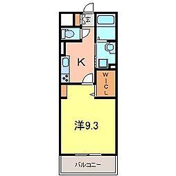 パストラーレ富士松[1階]の間取り