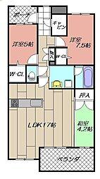 サンパーク青山テラス[605号室]の間取り