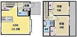 [タウンハウス] 大阪府東大阪市長堂2丁目 の賃貸【/】の間取り