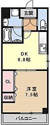 プラネシア星の子京都駅前西[503号室号室]の間取り