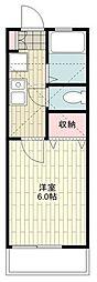 JR東海道本線 戸塚駅 バス15分 集会所前下車 徒歩8分の賃貸アパート 2階1Kの間取り