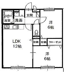 プレジオ喜多町[106号室号室]の間取り