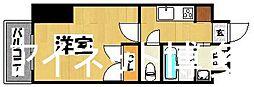 JR鹿児島本線 博多駅 徒歩7分の賃貸マンション 9階1Kの間取り