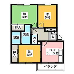 カームパインツリー23[1階]の間取り