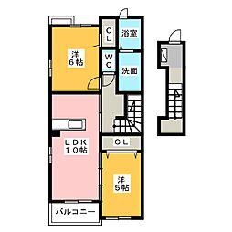 エクシブ[2階]の間取り