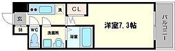 S-RESIDENCE西天満Grand Jour 11階1Kの間取り