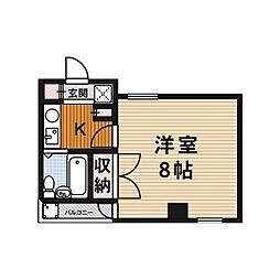 アップルハイツ富田[406号室]の間取り