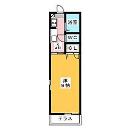 ホープ[1階]の間取り