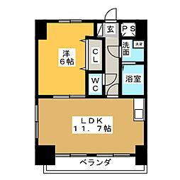 Moana Court[3階]の間取り