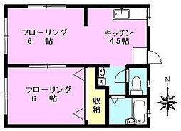 エルカーサ[1階]の間取り