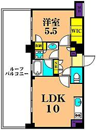 東京臨海高速鉄道りんかい線 品川シーサイド駅 徒歩3分の賃貸マンション 6階1LDKの間取り