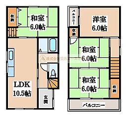 [一戸建] 大阪府堺市堺区三条通 の賃貸【/】の間取り