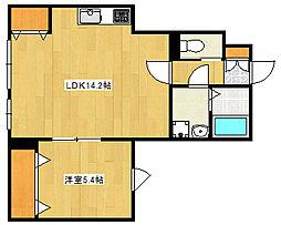 阪急神戸本線 王子公園駅 徒歩15分の賃貸アパート 1階1LDKの間取り