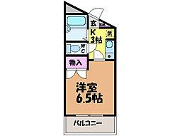 愛媛県松山市桑原2丁目の賃貸マンションの間取り