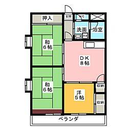 銀杏町レジデンス[7階]の間取り