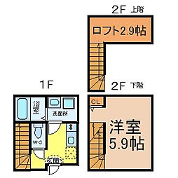 CASA名駅西 (カーサメイエキニシ)[2階]の間取り