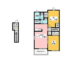 エアリーメゾンII[2階]の間取り