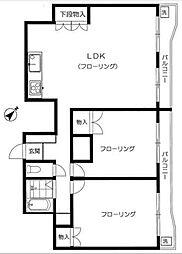 板橋蓮根台ダイヤモンドマンション[3階]の間取り